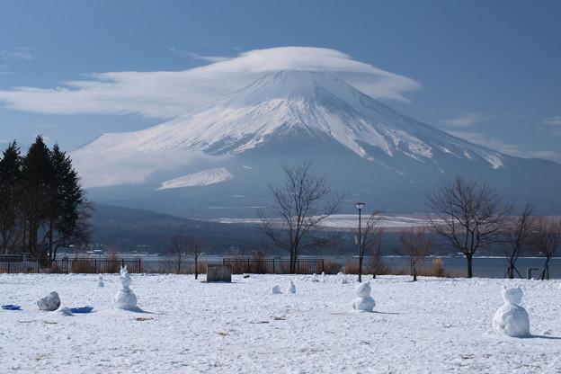 雪だるま集まれ~。