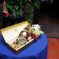 Photos: お出迎えのテーブル。