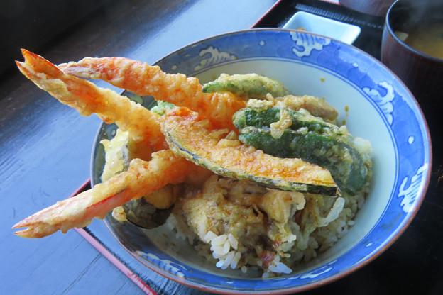 海老野菜天丼。