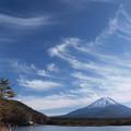Photos: すじ雲空覆う。