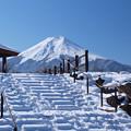 雪の階段上がってみたい。