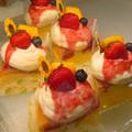 Photos: 夏のスフレチーズケーキ、苺のせ。