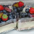 Photos: ブルーベリーチーズショートケーキ。