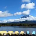 Photos: 台風過ぎて精進湖の雲模様。