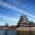 Photos: 筋雲と堂々の松本城。