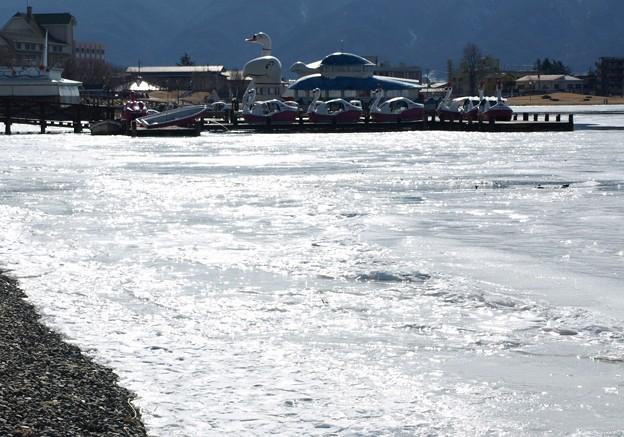 氷る諏訪湖は氷らない。