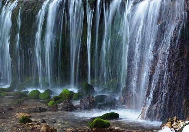 真冬の白糸の滝。