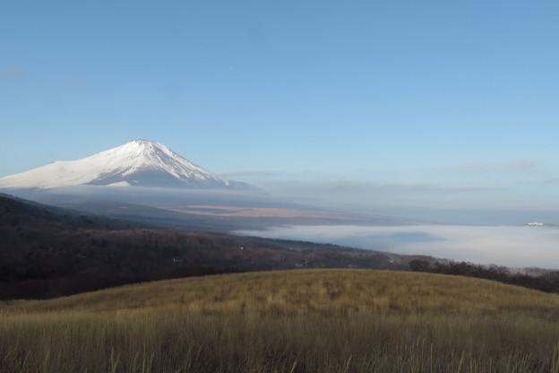 山中湖覆う雲海の上は。