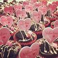 写真: Cup cakes for Valentine's Day♪
