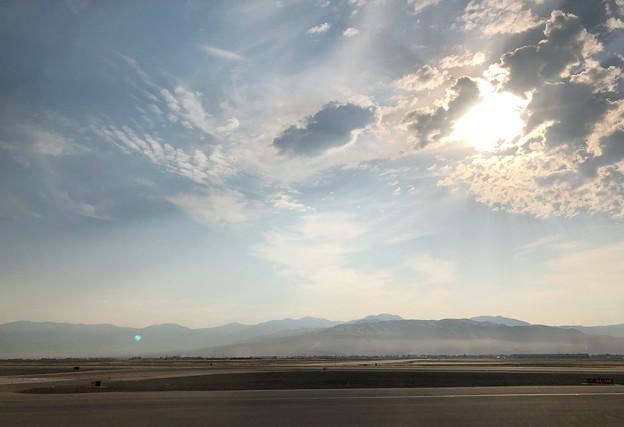 今朝のワサッチ山脈
