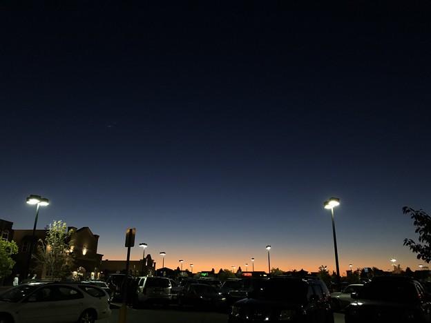 Evening sky...