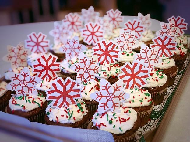 Christmas cupcakes♪