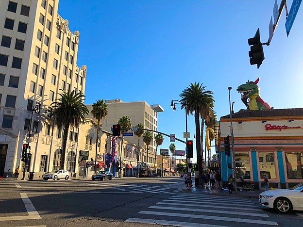 Hollywood Blvd and Highland Ave