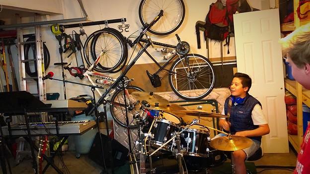 Garage band...練習中