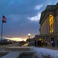 ユタ州会議事堂と星条旗