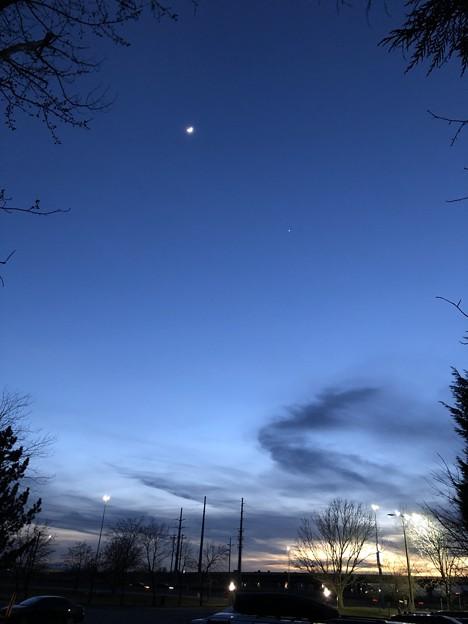 2月28日の月と金星