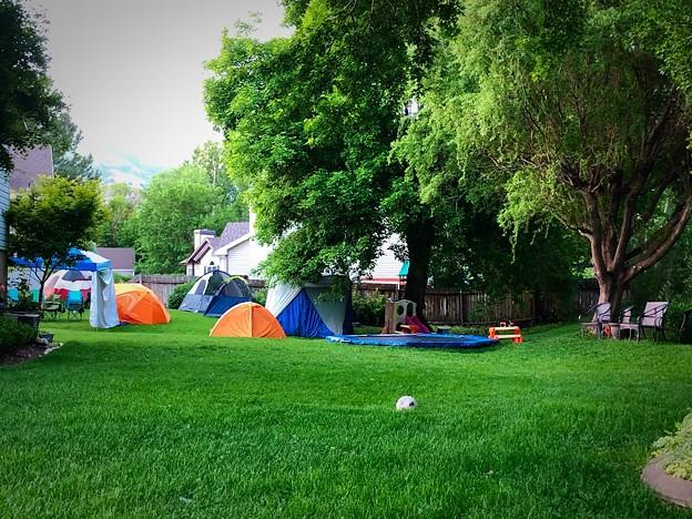 お庭でキャンプ♪