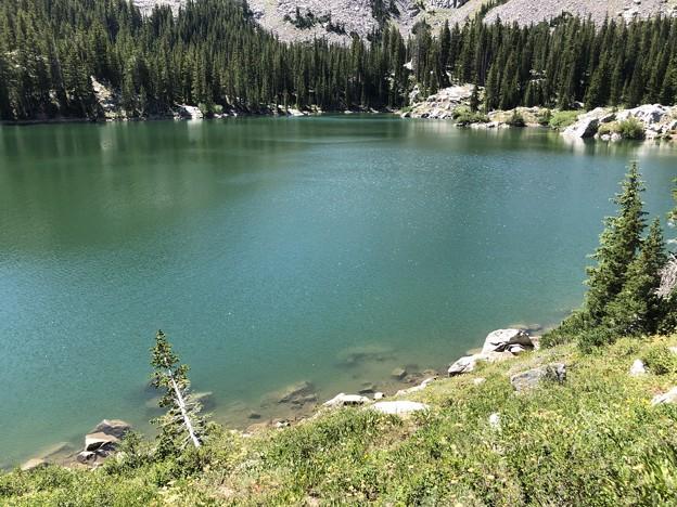 薄氷の張った湖