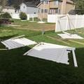壊れたフェンス。。