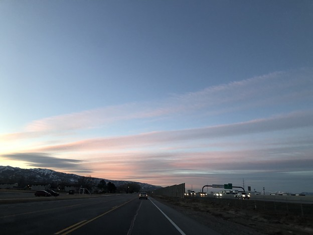 今朝(昨日)の朝の空。。2-9-2021