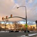 Photos: 信号機と夕空