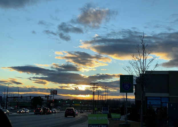 土曜日の空模様。。9 夕焼け