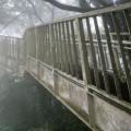 霧の中の登山道ーなぜか陸橋
