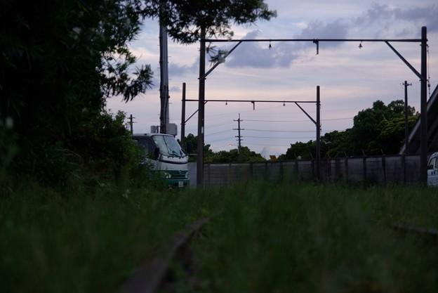 写真: 廃線 行きつく先は壁