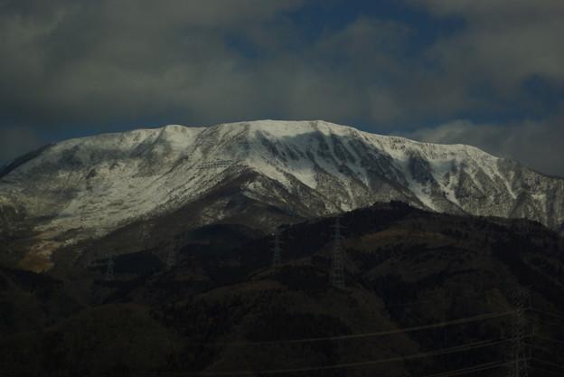 新幹線の車窓から ~伊吹山雪景色~