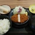 いわき市の松のや イオンモールいわき小名浜店にて厚切りロースかつ定食をいただく