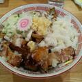 福島市の自家製麺しげさんにて油そば にんにくと背脂入れてみました 美味しゅうございました
