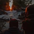 写真: 神割崎日の出のカメラマン撮影