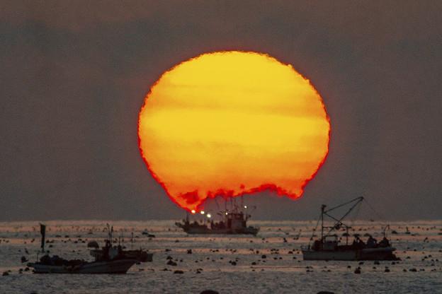 三陸沖の日の出