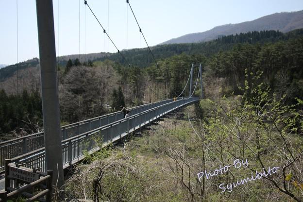 七ヶ宿町 やまびこ吊橋