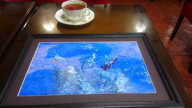 喫茶店エスペランザに展示しました。