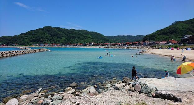 今回のキャンプ地 島根半島の某ビーチ