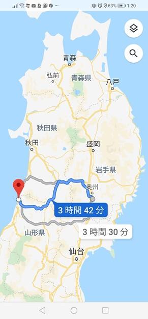 旅6日め 翌朝 鳥海ブルーラインを走る為に山形県へ