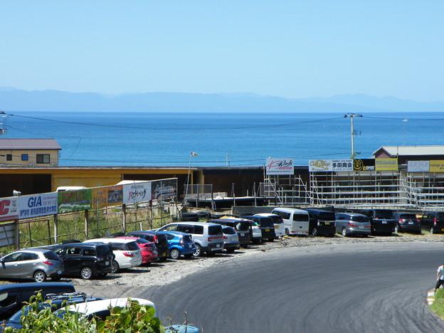 帰路の新潟 日本海間瀬サーキットから海と山