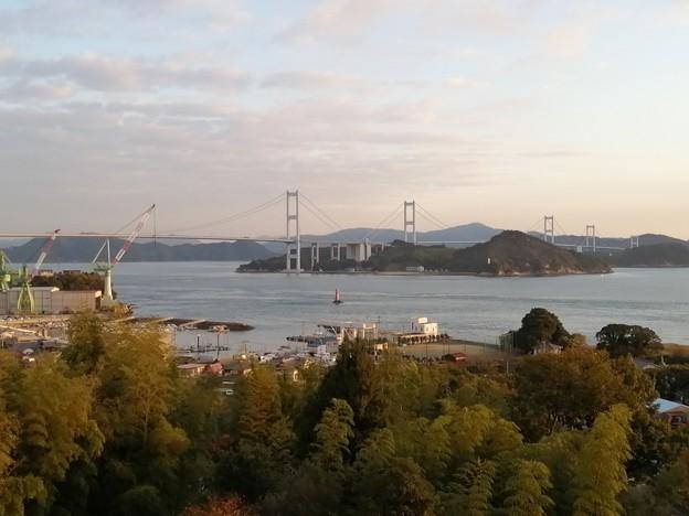 来島海峡SA 展望テラスからの景色