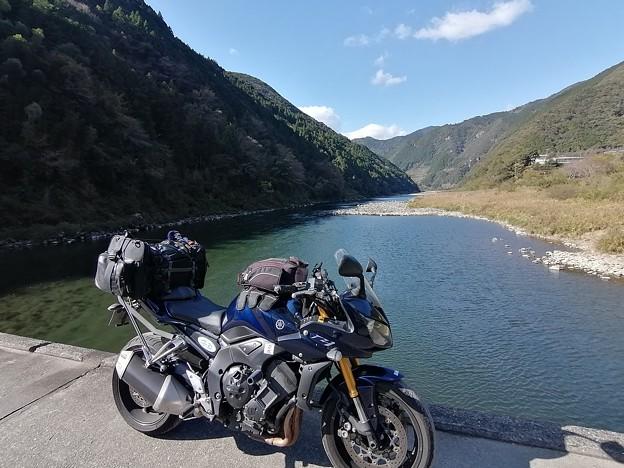 浅尾沈下橋とマイバイク