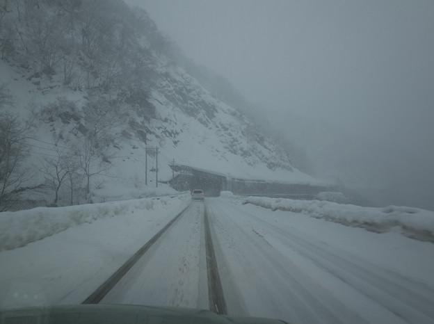 R156雪道