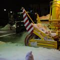写真: ロータリー除雪車