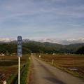 剣岳と田んぼ道