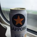 電車旅と缶ビール