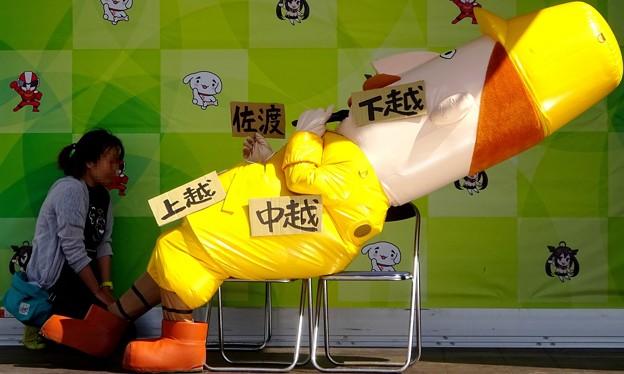 自分の体を使って新潟県を表す・・レルヒさん