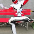 Photos: ベンチでくつろいでいる・・福祉戦隊ワコレンジャー・レッド