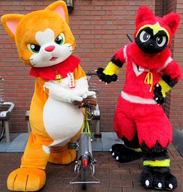 にゃん吉 と ネコ忍者☆かげ丸