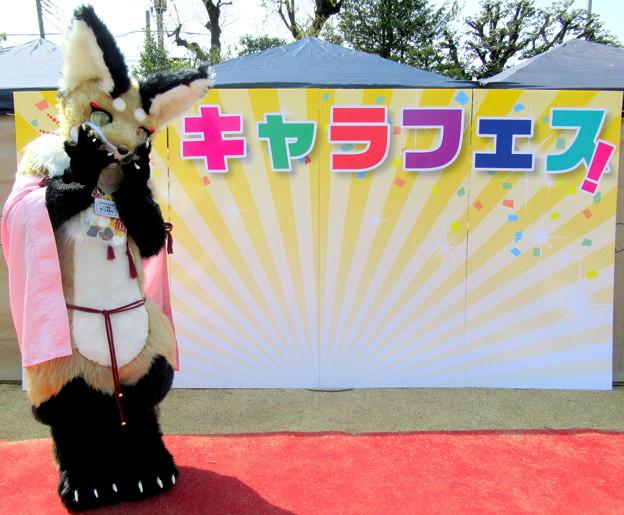 咲鶴・・ステージの前でパチリ