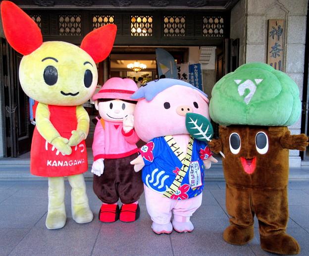 けんけつちゃん・チッチ と 丹沢はだの三兄弟・丹沢あゆみ と あゆコロちゃん と もりりん
