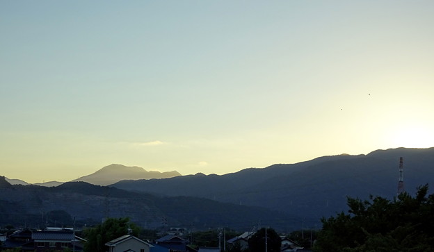 写真: 日没直後の空